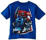 Transformers Little Boys' Optimus Prime Bend T-Shirt, Royal, 4