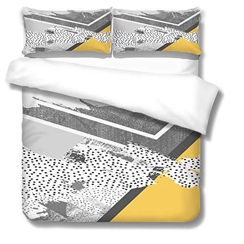 Juego de Cama 3D Juego de Funda nórdica para Cama Extragrande 240x260cm Mapa de Puntos negrosmicrofibra niños Adultos con diseño Funda nórdica de con 2 Fundas de Almohada (50x90cm)