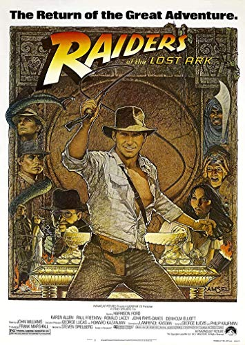 Theissen Indiana Jones Raiders of The Lost Ark Harrison Ford Movie Poster/Print/Picture - Matte Poster Frameless Gift 11 x 17 inch(28cm x 43cm)*IT-00081