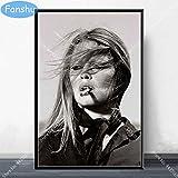 Wall Art Brigitte Bardot Poster Movie Star Actress Model Canvas Painting Carteles e Impresiones para la habitación Decoración Decorativa para el hogar-Sin marco-50X60cm
