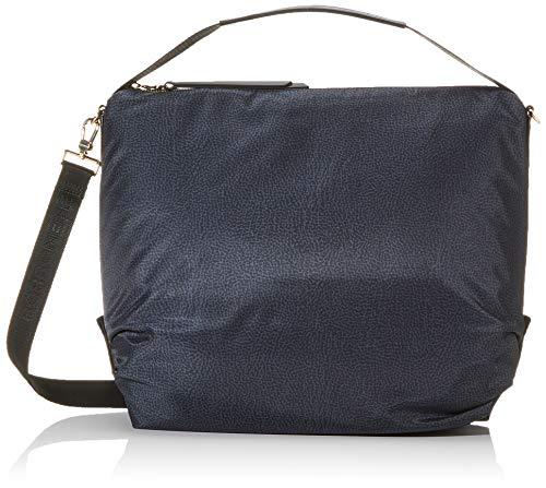 Borbonese Hobo Bag, Borsa a Spalla Donna, Nero (Nero), 34x35x12 cm (W x H x L)