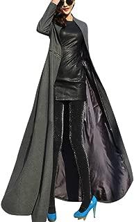 Women's Full Length Jacket Coat - Winder Breaker Slim Fit Long Trench Outwear Parka Zipper Slit