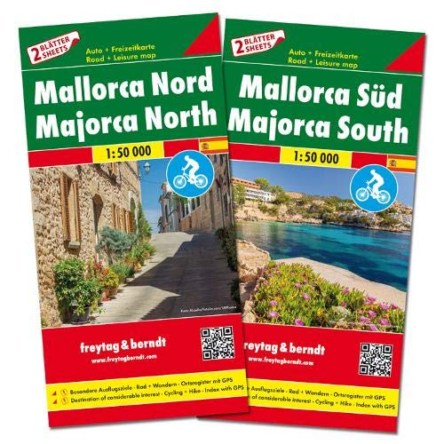 Mallorca Nord und Süd, Set, Autokarten 1:50.000: Set wegenkaarten 1:150 000 (freytag & berndt Auto + Freizeitkarten)