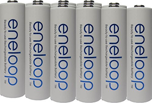 Newest version Panasonic Eneloop 4rd generation 12 Pack AA NiMH Pre-Charged Rechargeable Batteries -FREE BATTERY HOLDER- Rechargeable 2100 times
