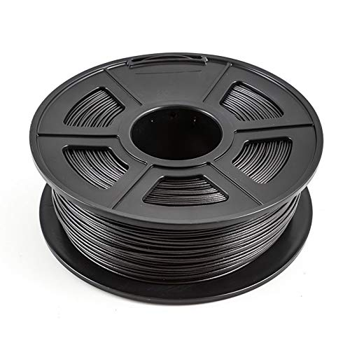without XXF-dyjhc, filamento de impresora 3D de 1,75 mm, 1 kg/2,2 libras PLA PETG TPU Fibra de carbono Conductivo ABS PC POM ASA Madera HIPS PVA Filamento de plástico (color: PLA fibra de carbono)