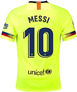 ef746f4e9b4 Barcelona Away Jersey 2018-2019 Men's #10 Messi Jersey Color Green Size L