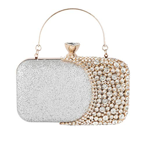 GSAYDNEE Señoras Diamante de imitación Diamante Embrague Tarde Nupcial Bolso Monedero Brillo...
