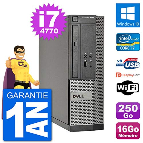 Dell PC Optiplex 3020 SFF i7-4770 RAM 16 GB Festplatte 250 GB Windows 10 WiFi (Generalüberholt)