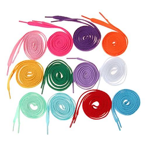 MagiDeal Schnür-Senkel Senkel, Laces, Tube Laces, Schuhbänder, in 12 Farben, Set/12Paare