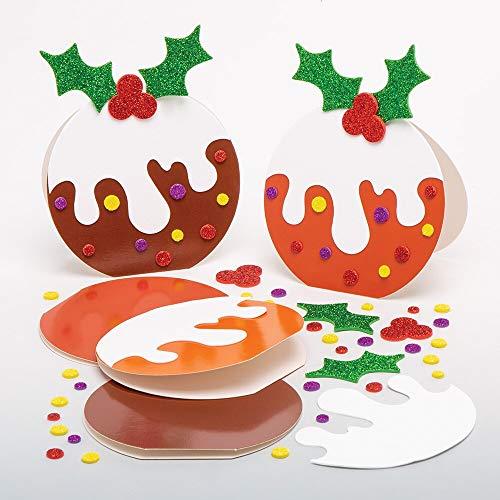 Baker Ross Kits Tarjeta Pudding Navideño (Pack de 6) -