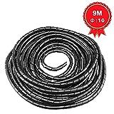 GTIWUNG Raccoglicavi Spiralato, Spirale Avvolgicavo, Tubo a Spirale Diametro 10mm, Coprica...