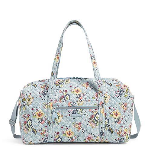 Vera Bradley Women's Signature Cotton Large Travel Duffel Bag, Floating Garden, One Size Georgia