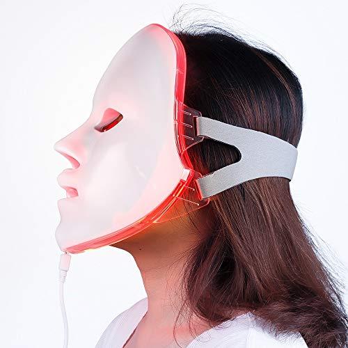 ZRONG 7 Couleurs lumière LED Masque Facial rajeunissement de la Peau LED Masque photothérapie Soins du Visage beauté Anti acné blanchissant Masque Anti-Rides