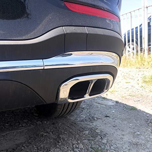 outingStarcase For Mercedes GLC X253 GLC260 coupé Modificado Tubería de Escape Trasero Modificado Tubo de Escape Cuatro out Throat Pegatinas de Coche Accesorios GLC300 (Color : Black 2pcs)