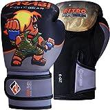 Farabi Retro Kids Boxing Gloves Warrior Series Gloves Grey Black (4OZ)
