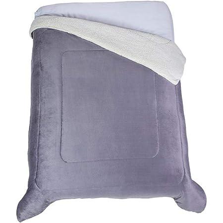 Colchas Concord Argos Cobertor de Borrega, Gris, Matrimonial 1.80 X 2.20 Mts.