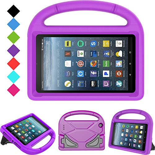 Kids Case for All-New Fire 7 2019/2017 - TIRIN Light Weight Shock Proof Handle Kid–Proof Cover Kids Case for Amazon Fire 7 Tablet (9th/ 7th/ 5th Generation, 2019/2017/ 2015 Release), Purple