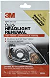 3M Quick Headlight Renewal, Helps Remove Light Haziness and Yellowing in Minutes, Hand Application, 1 Sachet
