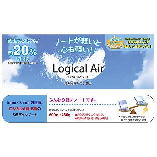 ナカバヤシロジカル・エアーノートA罫/B5/30枚NO-B576A