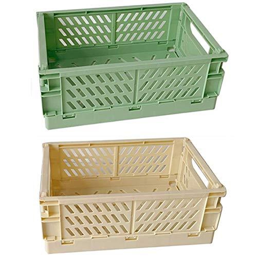 Plastikschublade Organizer Zusammenklappbare Aufbewahrungsboxen Kiste, 2-Pack-Stapelablagerung Lagerkorb Schrank Container Spielzeug Organizer Kunststoffschubladen für Home Büro Schlafzimmer Küchensch