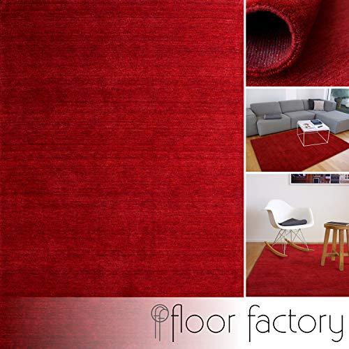 floor factory Gabbeh Teppich Karma rot 140x200 cm - handgefertigt aus 100% Schurwolle