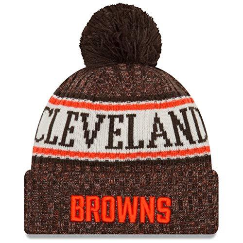 New Era - Cleveland Browns Beanie - on Field 2018 Sport OTC Knit - Brown/Orange Cleveland Browns Beanie on Field 2018 Sport OTC Knit - Einheitsgröße