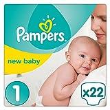Pampers Premium Protection New Baby Windeln, Gr. 1 (2-5 kg), 4er Pack (4 x 22 Stück)