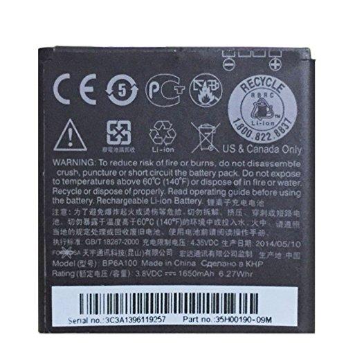Glitzy Gizmos HTC-Akku, BP6A100,1650mAh 6,27W, 3,8V, für HTC Desire 300/301/Zara Mini (keine Einzelhandelsverpackung), Original-Ersatzteil