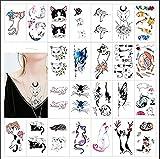 50x Cat Temporäre Tattoos für Kinder und Erwachsene,...