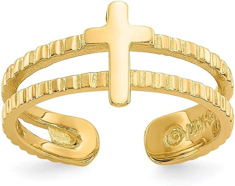 Jewelry-14k Cross Toe Ring