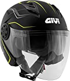 H123FFXBY63 CASCO JET 12.3 STRATOS XXL/63 GRAF. FLUX NERO OPACO/YELLOW