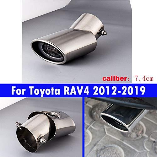 1 tubo de escape de cola de coche silenciador no bordado para RAV4 2012 2013 2014 2015 2016 2017 2018 2019