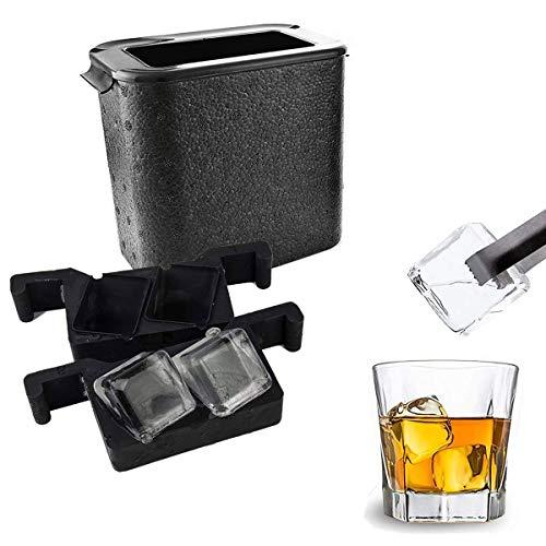 Feici - Molde para bandeja de whisky (cubo), cristal, amarillo, 1