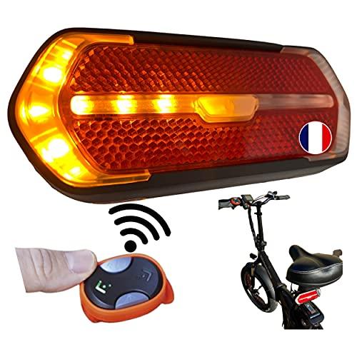 Feux arrière vélo clignotant led télécommande sans fil pour la sécurité de tous à vélo,...