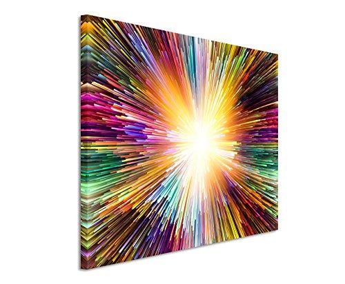 Paul Sinus Art XXL Fotoleinwand 120x80cm Bunte Farbexplosion auf Leinwand Exklusives Wandbild Moderne Fotografie für ihre Wand in vielen Größen