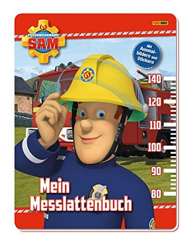 Feuerwehrmann Sam: Mein Messlattenbuch: mit Ausmalbildern und Stickern