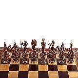 GiftHome (sólo Piezas de ajedrez Antiguo Egipto, Figuras de Cobre Antiguo Faraón, Piezas de ajedrez de Metal Hechas a Mano, King 3.5 Inc (Tabla no incluida)
