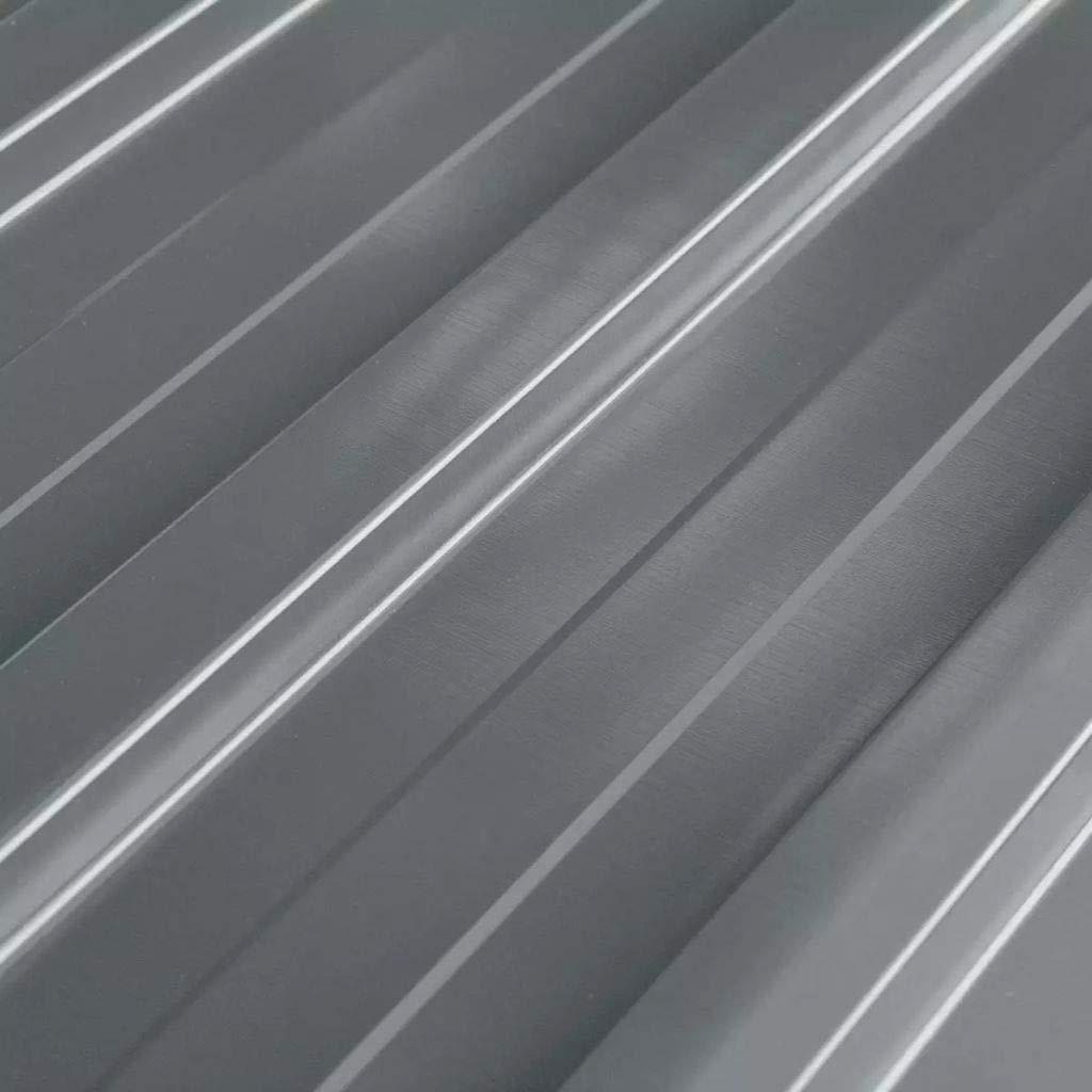 Nishore 12 x perfiles Chapa Trapezoidal Panel de Techo galvanizado 129 x 45 cm (L x B) para cobertizo Verde: Amazon.es: Hogar