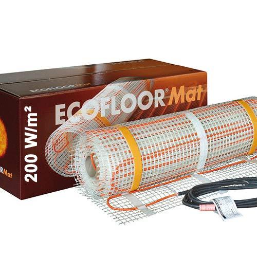 200 Watt PREMIUM Fußbodenheizung elektrisch Fliese Bad Heizmatte 1,0 m² | 200 Watt | 2,0 x 0,5 m OHNE Thermostat
