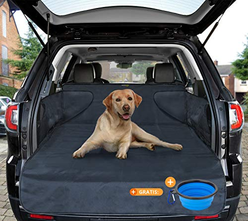 smartpeas Dog Cover - Universal Car Trunk Case - Evita protection Humidity Dirt hair - Hard Case with Side 185x105x36 cm