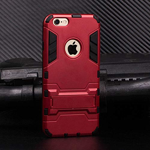 Cocomii Iron Man Armor iPhone 6S/6 Case, Slim Thin Matte Vertical & Horizontal Kickstand Reinforced Drop Protection Fashion Phone Case Bumper Cover Compatible with Apple iPhone 6S/6 (Red)