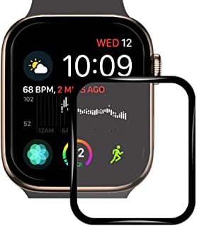 Screen Protector for Apple Watch Series 5/4 44MM, iWatch 2019 Full Coverage Protective Tempered Glass HD Film Case with 3D Curved Edge Anti-Scratch Upgraded Version (44MM)