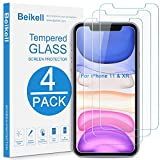 Beikell [4 Stück] Schutzfolie für iPhone 11, iPhone XR, Bildschirmschutzfolie mit Installationsanleitung, 9H Festigkeit & Hohe-Auflösung, Kratzfest, Blasenfrei, Hüllenfre&lich für iPhone 11/ iPhone XR