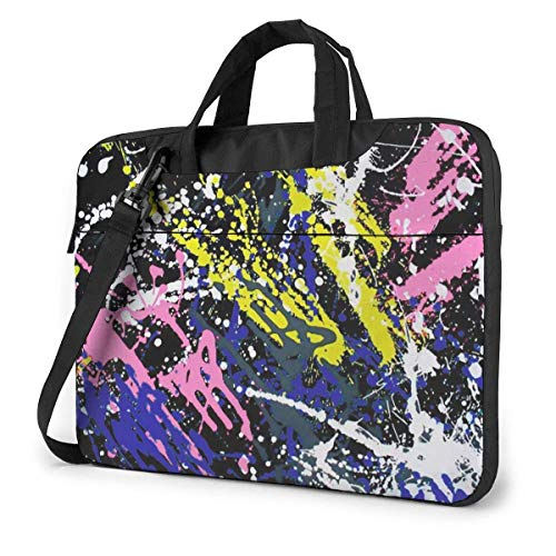 Shockproof Laptop Bag Colored Gra-ffiti Durable Laptop Briefcase Cushion Protective Case Sleeve 15.6 inch