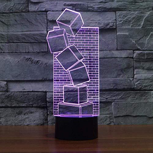 3D illusie kleurrijke LED tafellamp touch cool stijl nachtlampje kerstmis geschenken romantische vakantie leuk gadget