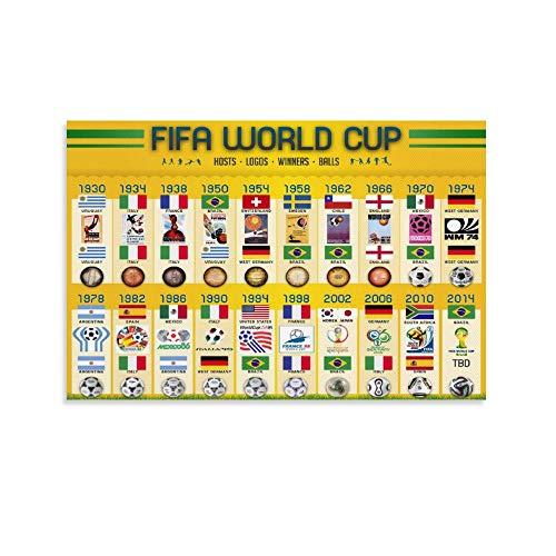 QIANCHANG Póster decorativo de la Copa del Mundo de la FIFA (30 x 45 cm)
