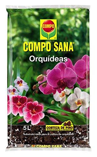 Compo 8 semanas de abono para Todas Las orquídeas, Substrato de Cultivo de Corteza de Pino, 5 litros, 42x23x5.5 cm