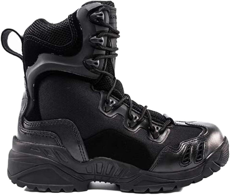 WEGCJU Men's Waterproof Martin Boots Wear High-top Military Boots Non-Slip Hiking shoes Chukka Chelsea