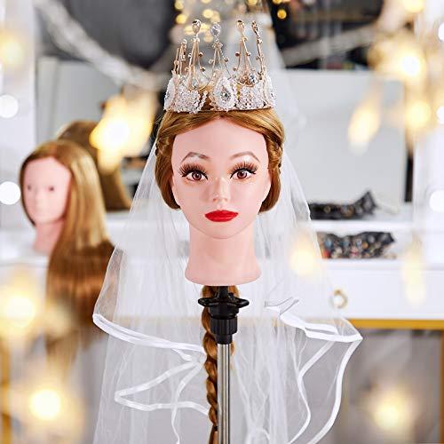 """Neverland Cabeza Maniquí 24"""" 50% Pelo Natural Peluqueria practicas Formación Muñeca de la Cosmetología (con soporte) & DIY accesorios para el cabello #27"""