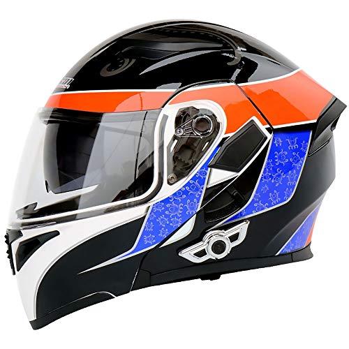 boaber Pequeño patrón de pulpo ABS multifunción Bluetooth para montar a caballo para adultos, casco de motocicleta, casco de bicicleta de montaña, equipo de equitación al aire libre (tamaño: XL)